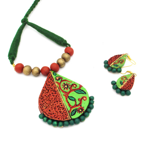Buy Online Daily wear terracotta jewellery jewelry set for women - Samreedhi Handicrafts