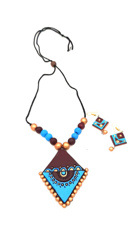 Buy Online Daily wear terracotta jewellery set for women 8- Samreedhi Handicrafts