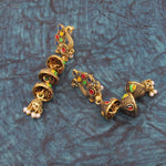 Buy Online Golden Oxidised Jhumki earrings for women 1- Samreedhi Handicrafts