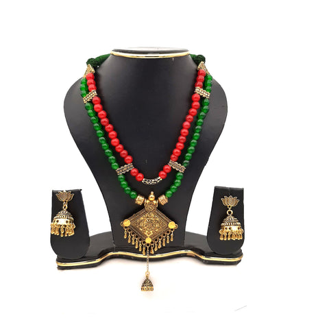 Buy Online Golden Oxidised multi layer jewellery set - Samreedhi Handicrafts