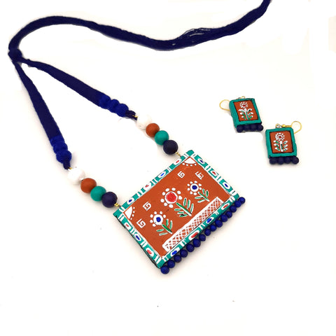 Buy Online Handpainted Terracotta Necklace Set for Women - Samreedhi Handicrafts