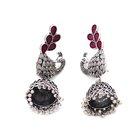 Buy Online Minakari Peacock Design Indian Traditional Earring Jhumki 1- Samreedhi Handicrafts
