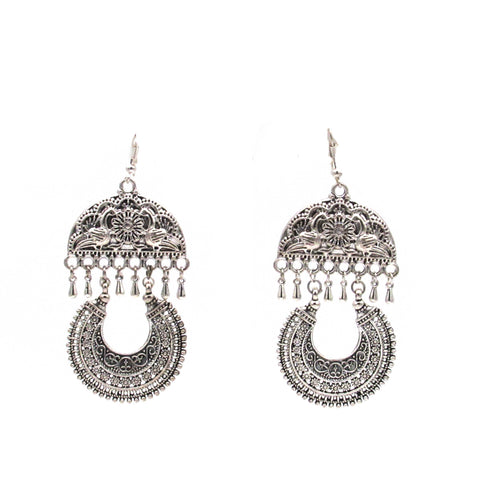 Buy Online Oxidise Chandbali Earrings for women - Samreedhi Handicrafts