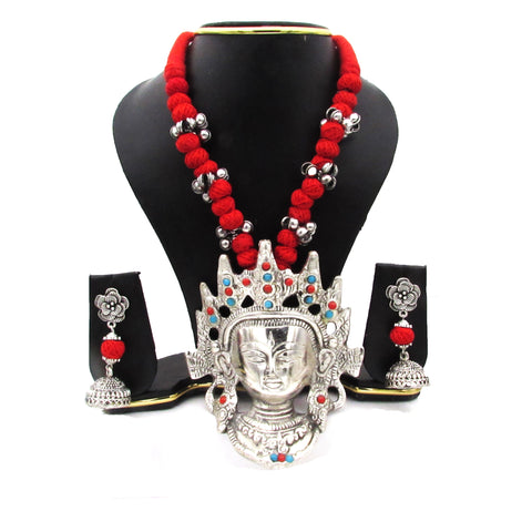 Buy Online Oxidise Jewellery Set Big Buddha Pendant for women - Samreedhi Handicrafts