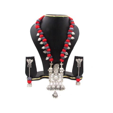 Buy Online Oxidise Jewellery Set Multi Jhumka Pendant for women - Samreedhi Handicrafts