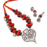 Buy Online Oxidise Jewellery Set With heart Shape Pendant - Samreedhi Handicrafts