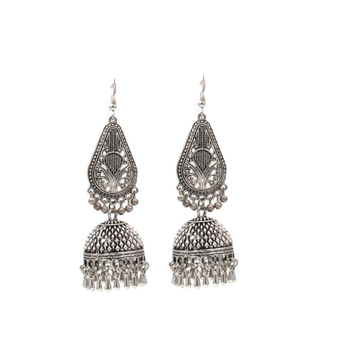 Buy Online Oxidise Jhumka Jhumki Earrings for women- Samreedhi Handicrafts