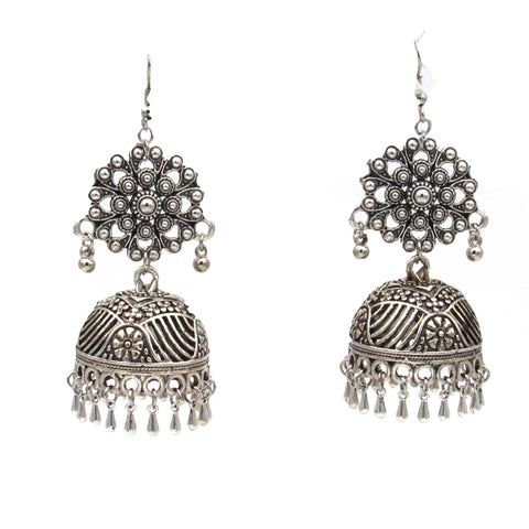 Buy Online Oxidised Dangler Jhumki Earrings for women - Samreedhi Handicrafts