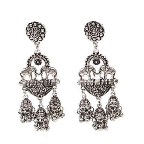 Buy Online Oxidised Earrings multi Jhumki for women 2- Samreedhi Handicrafts