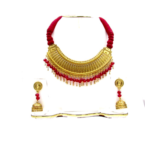 Buy Online Oxidised Gold Choker Set for women - Samreedhi Handicrafts