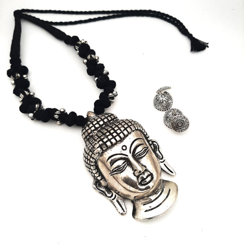 Buy Online Oxidised Jewellery set with big Buddha pendant - Samreedhi Handicrafts