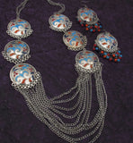 Buy Online Oxidised Multi Layer Chain Jewellery Set 3 - Samreedhi Handicrafts