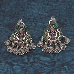 Buy Online Oxidised Peacock Earrings Jhumki Minakari 1- Samreedhi Handicrafts