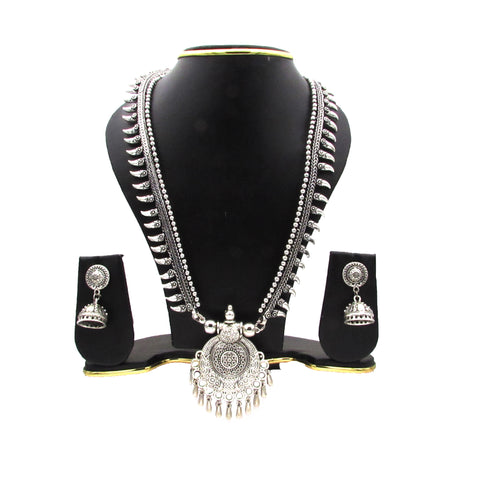 Buy online Oxidised Silver Jewels Jewellery Set for her - Samreedhi Handicrafts