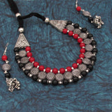 Buy Online Oxidised Trendy Choker Necklace Set 1- Samreedhi Handicrafts