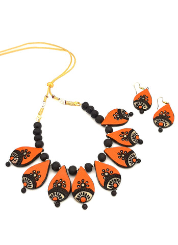 Buy Online Terracotta Choker necklace set for her - Samreedhi Handicrafts