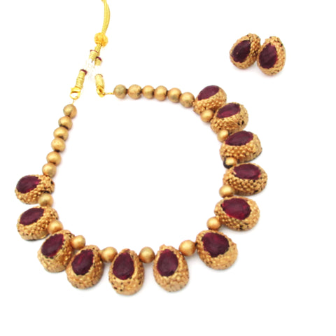 Buy Online Terracotta Jewellery Choker Necklace Set 1- Samreedhi Handicrafts