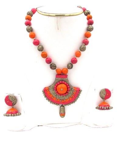 Buy Online Terracotta Jewellery Jewels Set 4- Samreedhi Handicrafts