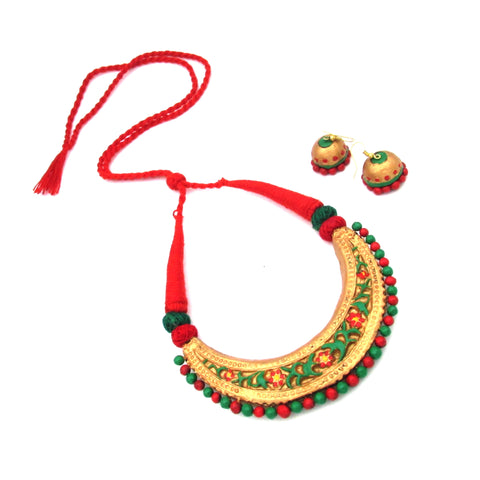 Buy Online Terracotta Jewellery Set Choker Hasuli for women - Samreedhi Handicrafts