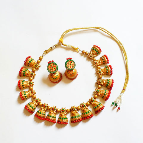 Buy Online Terracotta Jewellery Set  Choker muggapuu Jewels- Samreedhi Handicrafts