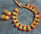 Buy Online Terracotta Jewellery Set  Choker muggapuu Jewels 1- Samreedhi Handicrafts