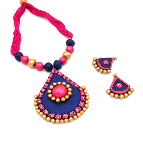 Buy Online Terracotta Jewellery Set daily wear Necklace for women - Samreedhi Handicrafts