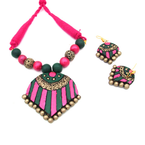 Buy Online Terracotta daily wear Jewellery Set for women 1- Samreedhi Handicrafts