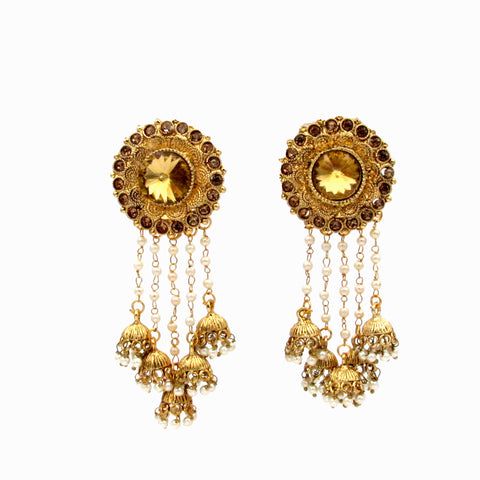 Buy Online Traditional Fancy Party Wear JhumkaJhumki Earrings for Girls and Women 1- Samreedhi Handicrafts