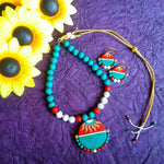 Buy Terracotta Jewellery Set with round big pendant - Samreedhi Handicrafts