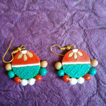 Buy Terracotta Jewellery Set with round big pendant 2 - Samreedhi Handicrafts