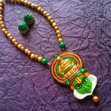Buy Terracotta jewelry Necklace set kathakali pendant - Samreedhi Handicrafts