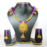 Buy online Antique Oxidise Jewellery Set 1- Samreedhi Handicrafts