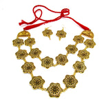 Buy online Antique gold Fashion Jewellery Set - Samreedhi Handicrafts
