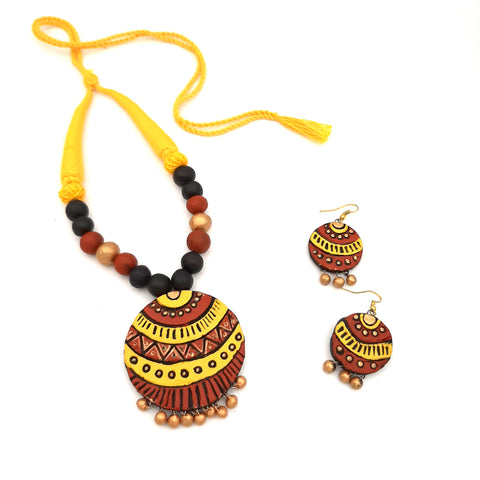 Buy online Daily wear terracotta jewellery set for women - Samreedhi Handicrafts