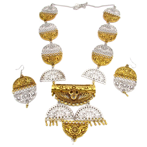 Buy online Dual tone oxidised jewels Jewellery set for women - Samreedhi Handicrafts