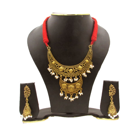 Buy online Oxidise Golden Choker Jewels Set - Samreedhi Handicrafts