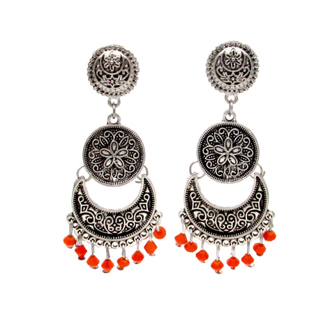 Buy online Oxidised Jewellery Chandbali Stud Earrings - Samreedhi Handicrafts
