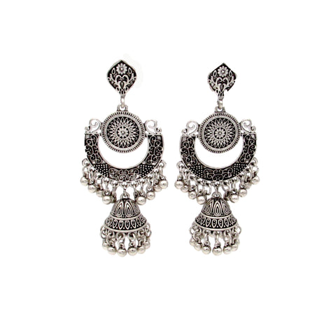 Buy online Oxidised Jewellery DangleDrop Earring With Jhumka For Women Girls - Samreedhi Handicrafts