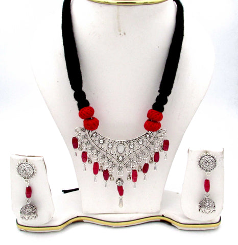 Buy online Oxidised Jewellery Set with small jhumki for her - Samreedhi Handicrafts
