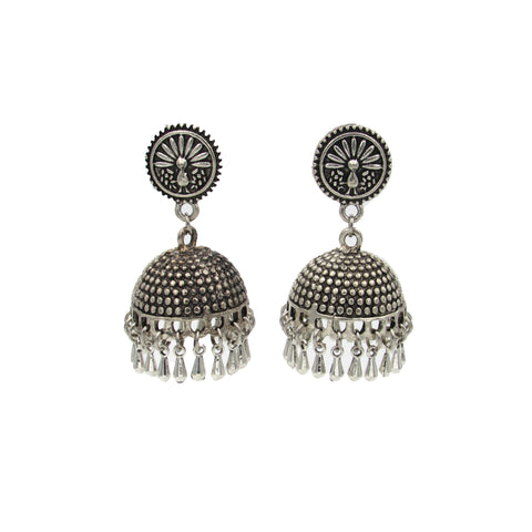 Buy online Oxidised Jhumka for Women - Samreedhi Handicrafts