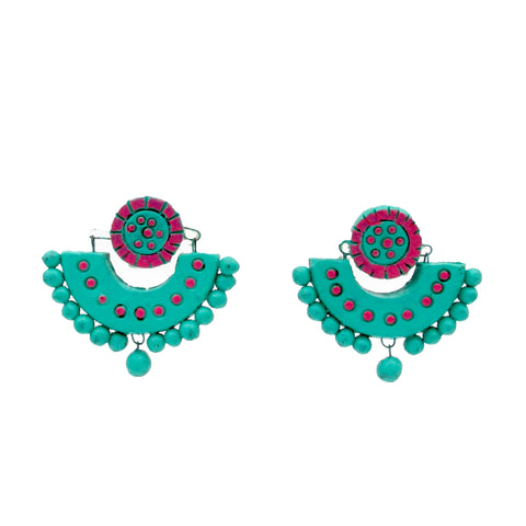 Buy online Terracotta Earrings Chandbali 1 - Samreedhi Handicrafts