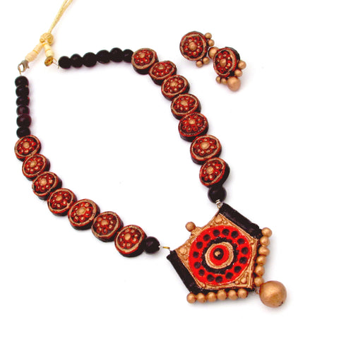Buy online Terracotta Jewellery Set for her - Samreedhi Handicrafts