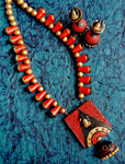 Buy online Terracotta Jewellery Set with Lord Shiv Ji Pendant 1 - Samreedhi Handicrafts