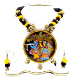 Buy online Trendy artistic jewellery set with Radha Krishna pendant for women - Samreedhi Handicrafts
