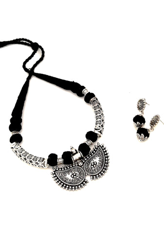 Buy online Oxidised Jewellery black choker necklace 2- Samreedhi Handicrafts