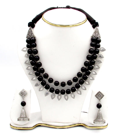 Buy Oxidise Jewellery set Choker with Jhumka - Samreedhi Handicrafts