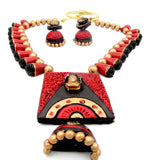 Terracotta Jewellery Set with Lord Shiv Ji Pendant