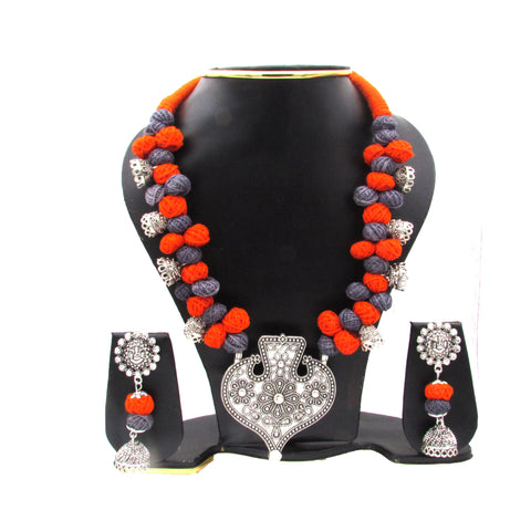 Oxidise Jewellery Set With heart Shape Pendant 5- Samreedhi Handicrafts