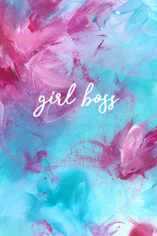 Girl boss wallpaper, desktop wallpaper, cute girly wallpaper