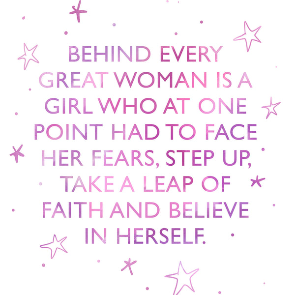 Behind every great woman, inspiring quote Rebecca Yates